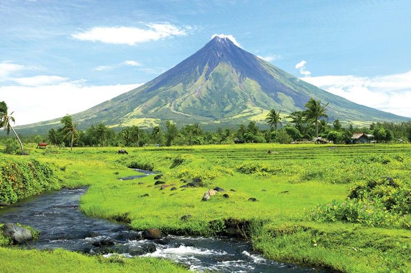 Mayon Volcano.  Philippines Tourism