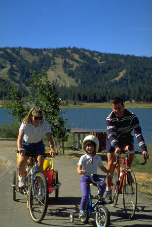 Big Bear Lake - Family Bicycling