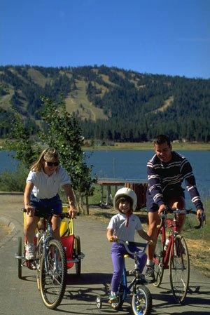 Big Bear Lake - Family Bicycling
