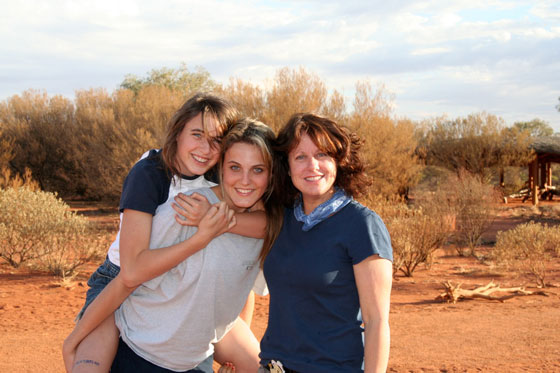 Author Elisa Elwin with her daughters Tori, and Sam