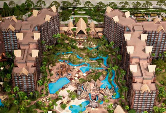 Aulani Disney Resort Model