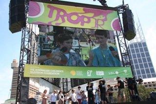 Big Screen for Trop Jr @ Tropfest 2012