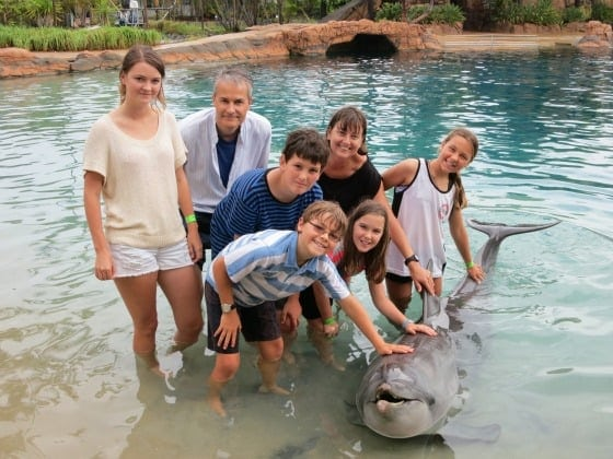 My family meets the dolphin family on the Gold Coast!