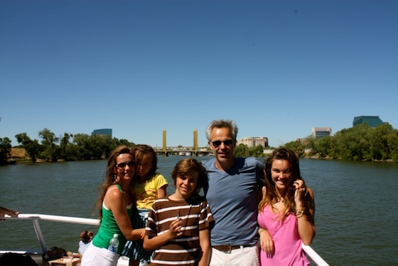 Daddo family on the Sacramento River