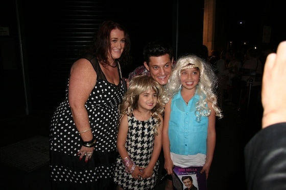 Legally Blonde star Rob Mills with fans of the hit stage musical