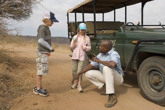 Jacis lodge kids on safari