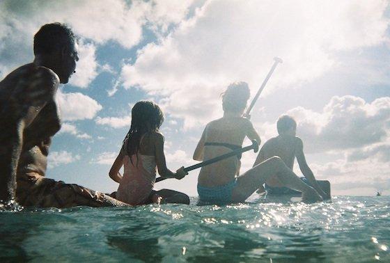Paddleboarding Daddo family