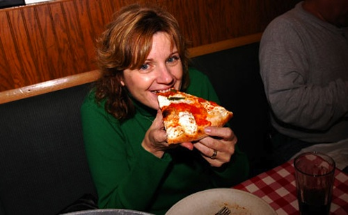 A slice of 'pizza pie' in Brooklyn