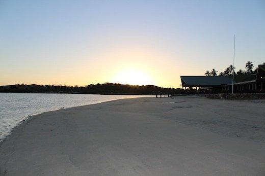 Plantation Island Resort as the sun sets