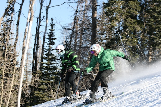 Josh and Alex race at Deer Valley