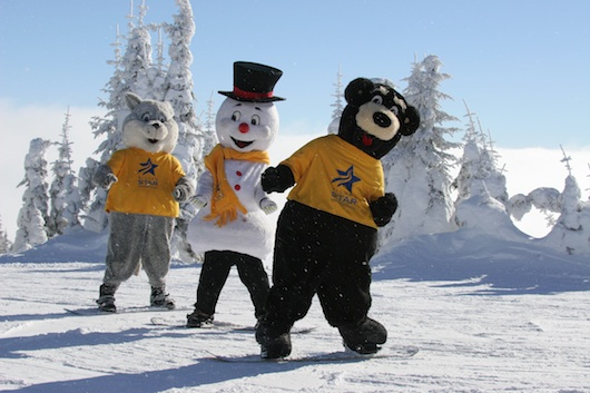 The happy mascots at Silver Star