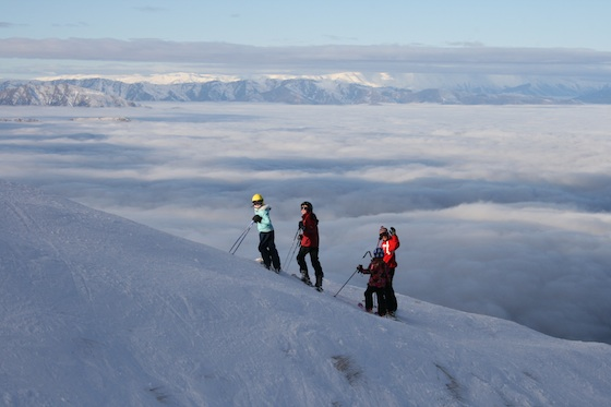 Up in the clouds at Treble Cone