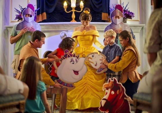 New Fantasyland Guests Enjoy 'A Tale as Old as Time'