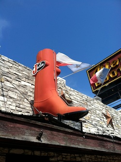 Texan cowboy boot