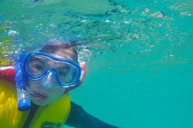 Ivy snorkelling on the Great Barrier Reef