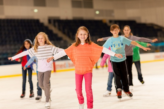 Kids have fun at Melbourne's Medibank Icehouse