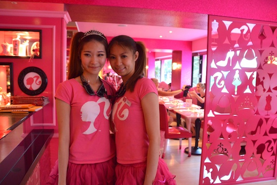 The gorgeous wait staff at Barbie Cafe, Taipei