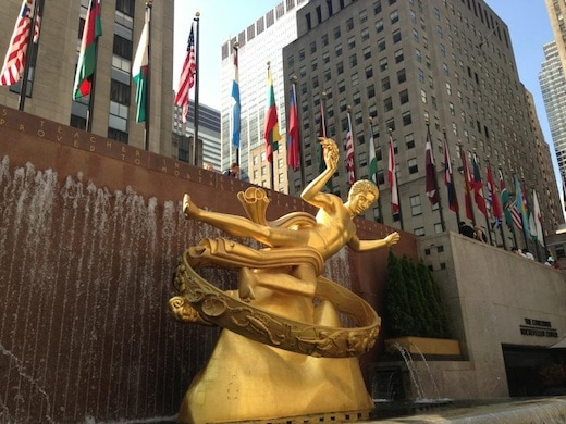 Golden Prometheus NYC Rockefeller Center