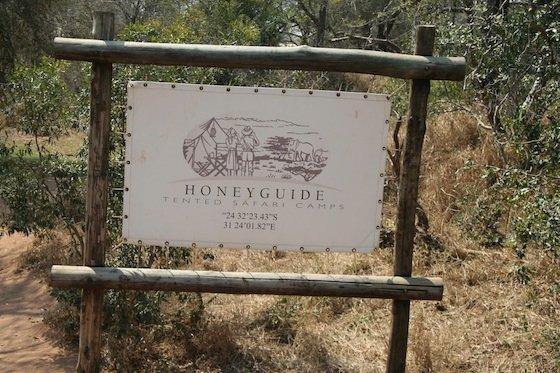 Kruger Honeyguide 560 tented safari camp sign