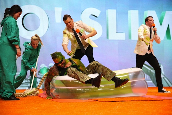 Commando Steve gets slimed!