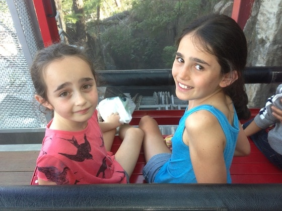Lil and Audrey on the scenic railway