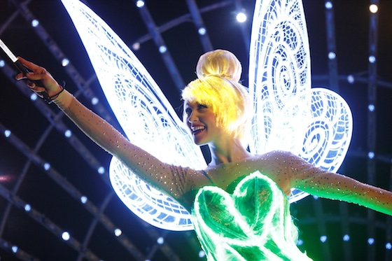 """Tinker Bell lights the way in """"Paint The Night"""".  © Disney"""