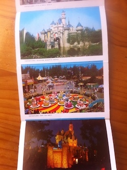 Cascading Disneyland Postcards -image after image ... and then some!