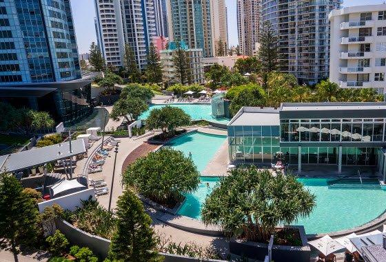 Q1 Resort - Aerial Pool