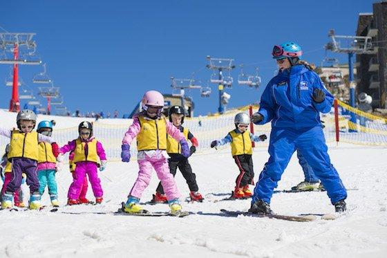 Kids love learning to ski at Mt Buller.