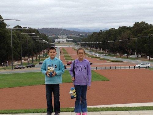 Looking towards Parliament House from the Australian War Memorial