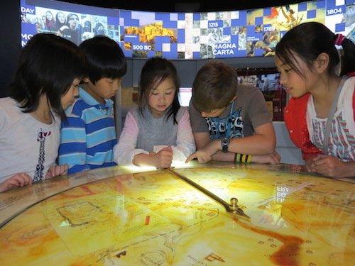 Children enjoying M.A.D.E's exhibition space