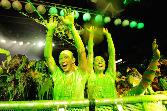 XXXX performs during the Nickelodeon Slimefest 2014 evening show at Sydney Olympic Park Sports Centre on September 26, 2014 in Sydney, Australia.