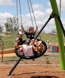 Tamworth Regional Playground swing