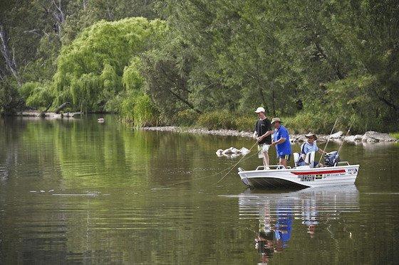 Fishing on the Gwydir River near Bingara, New England Image: Paul Foley/Destination NSW