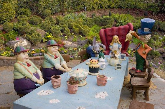 Mad Hatter's Tea Party in Storybook Garden Image: Hunter Valley Gardens