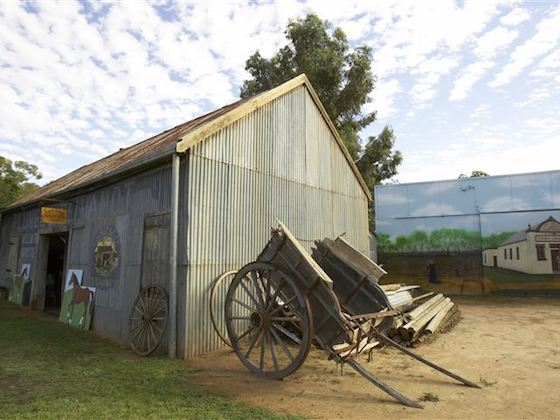 The Ned Kelly Blacksmith Shop, Jerilderie. Image: Destination NSW