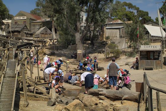 Panning for gold at Sovereign Hill in Ballarat © iStock
