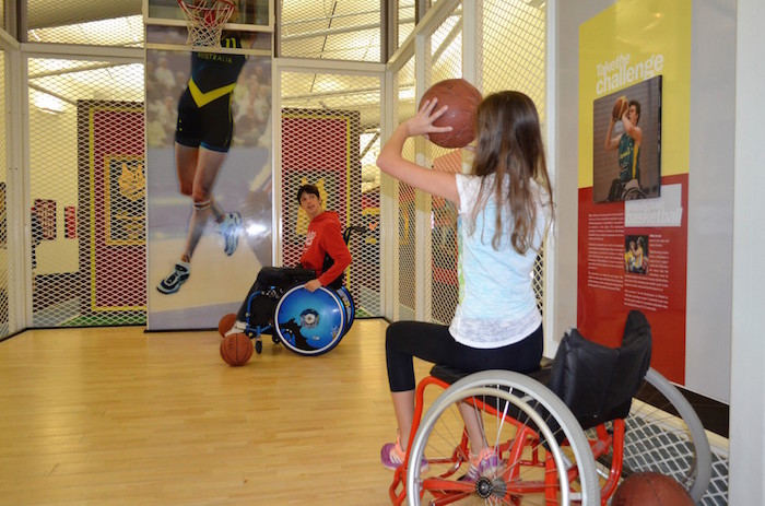 Playing wheelchair basketball at AIS