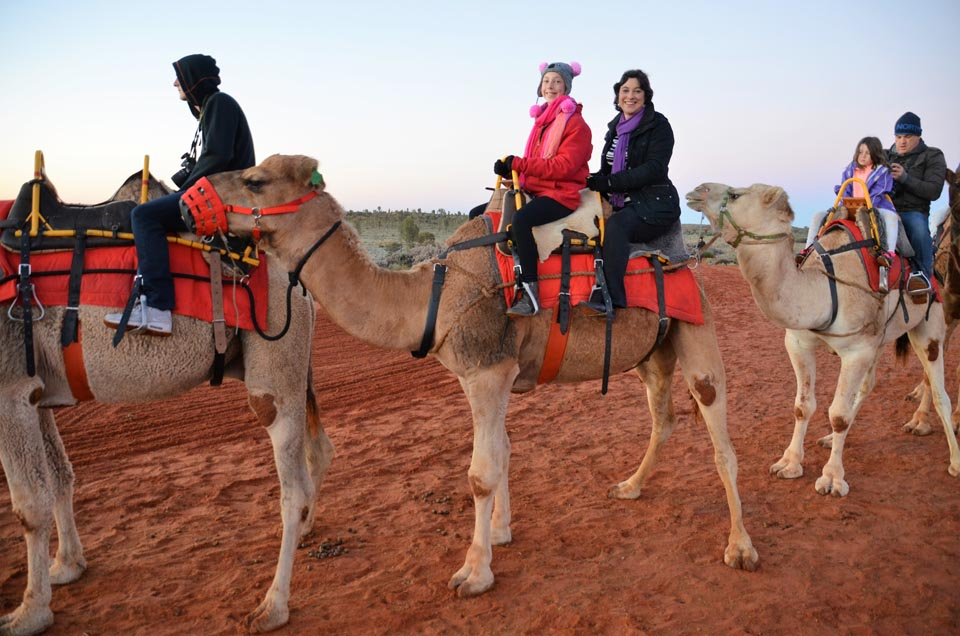 uluru-camel-tours with kids