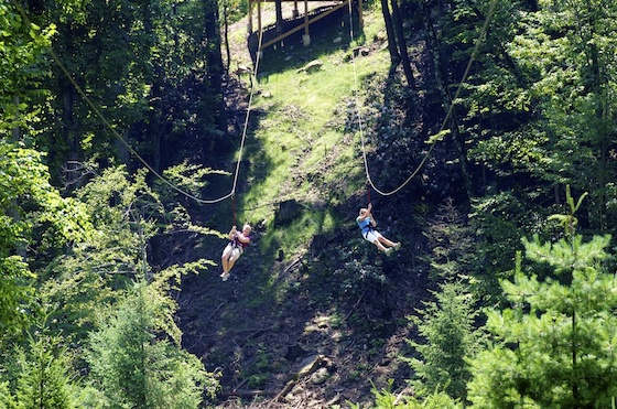 Zip line in the Poconos Mountains Image: Brand USA