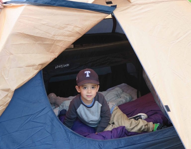 Toddler in tent 0290