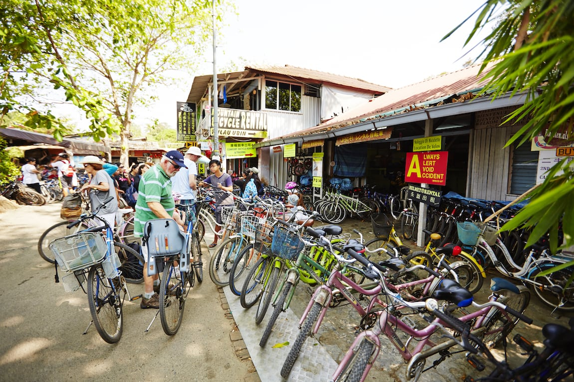 Bikes for hire at Pulau Ubin