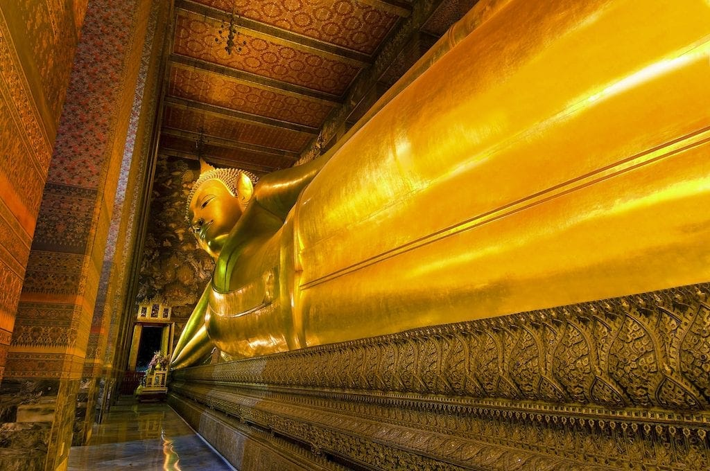 Reclining Buddha at Wat Pho CREDIT Tourism Authority of Thailand