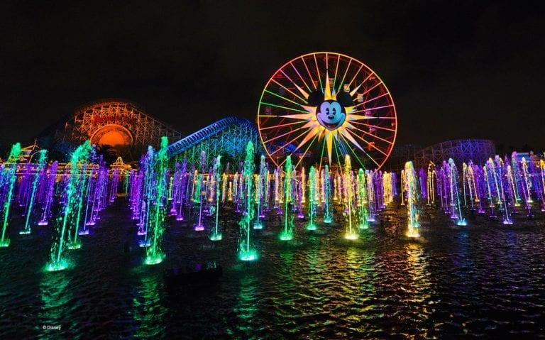 World of Colour at Disneyland Resort Anaheim CREDIT © Disney