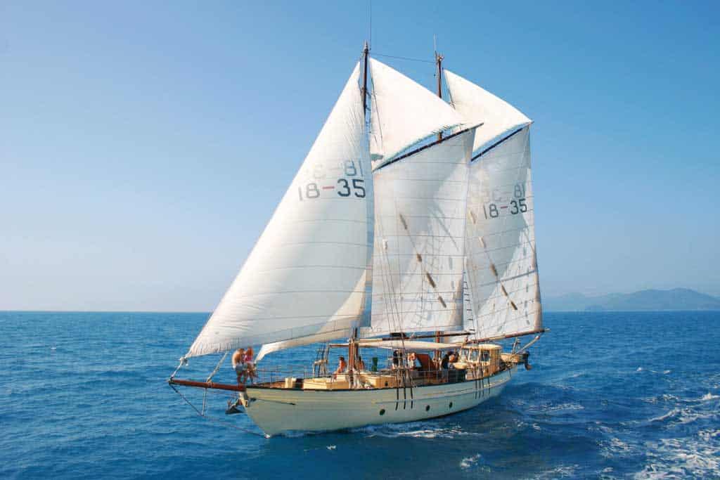 Classic tallship sailing aboard the Derwent Hunter CREDIT Tourism Whitsundays