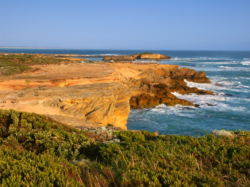 Rugged rocky coastline of Warrnambool, Victoria