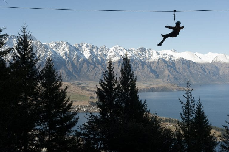 Take in the spectacular scenery while ziplining with Ziptrek Ecotours Queenstown