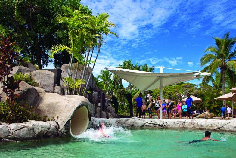 The waterslide at Radisson Blu Fiji Resort Denarau Island