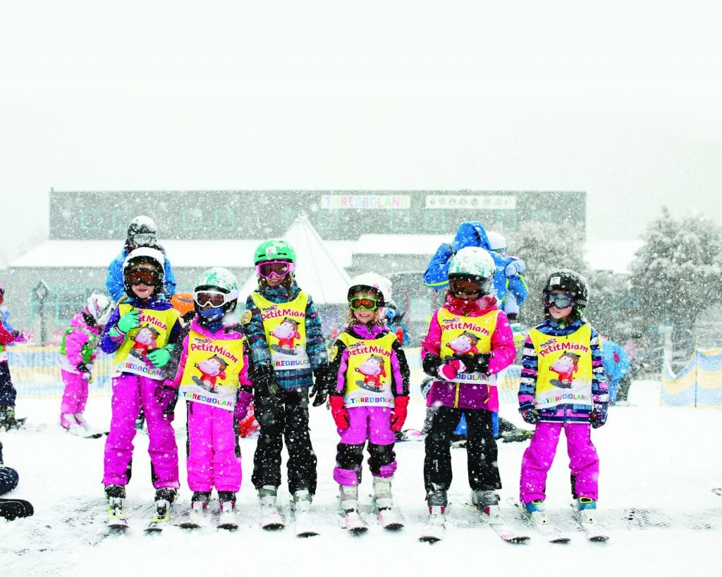 Children in Thredbo Ski Resort