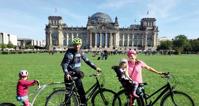 FEATURE The family in front of The Reichstag